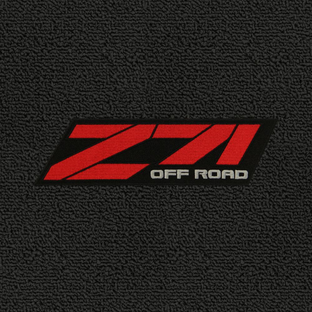 Lloyd Mats ® - Classic Loop Black Front Floor Mats For Chevrolet Tahoe 92-06 with Z71 Off Road Red Applique