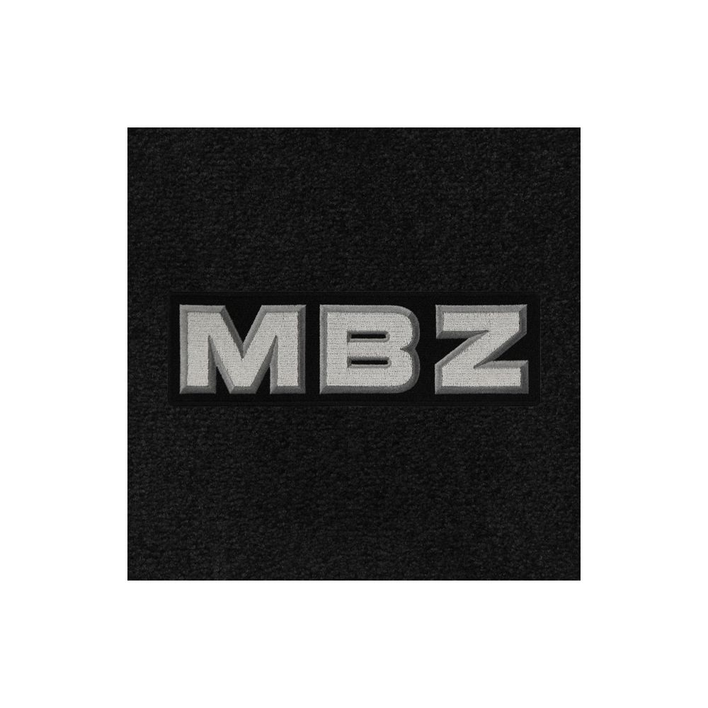 Lloyd Mats ® - Classic Loop Black Front Floor Mats For Mercedes-Benz with MBZ Applique