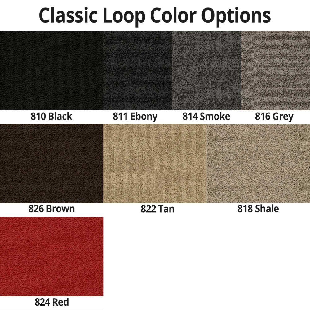 Lloyd Mats ® - Classic Loop Black Front Floor Mats For Corvette C3 with Corvette Applique Sidways Logo Faces Door Sill