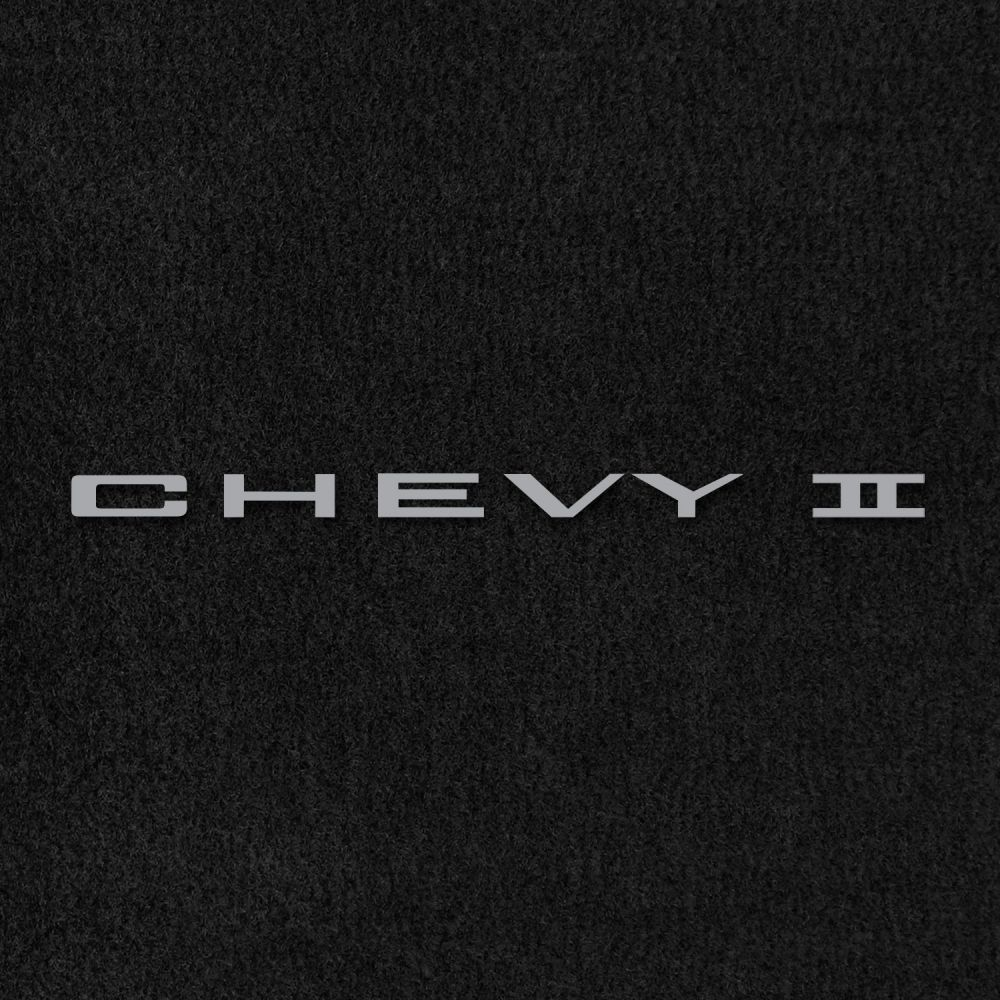 Lloyd Mats ® - Velourtex Black Front Floor Mats For Chevrolet Chevy II 1962-67 with Chevy II Embroidery
