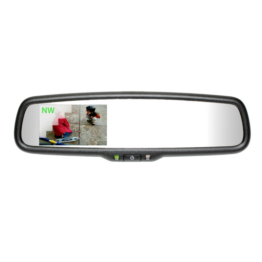 Mito Auto ® - Gentex Auto-Dim Universal Rearview Mirror with 3.3 Inch RCD and Compass (50-GENK335S)