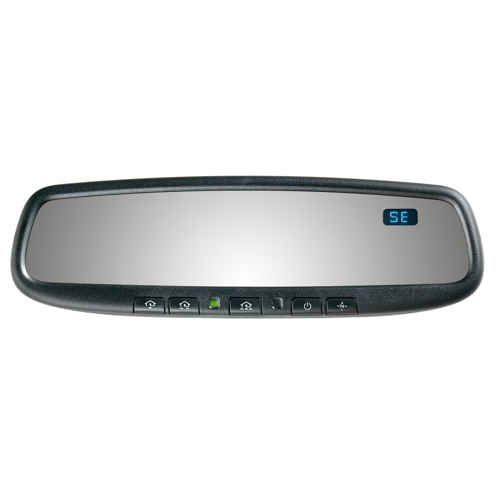 Mito Auto ® - Gentex Auto-Dim Universal Rearview Mirror with Compass and HomeLink 4 (50-GENK45AM4)