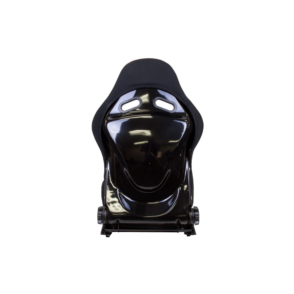 NRG ® - Large Black Cloth Reclinable FRP Bucket Racing Seat with Black backing and Red Stitching (RSC-400BK-RD-L)