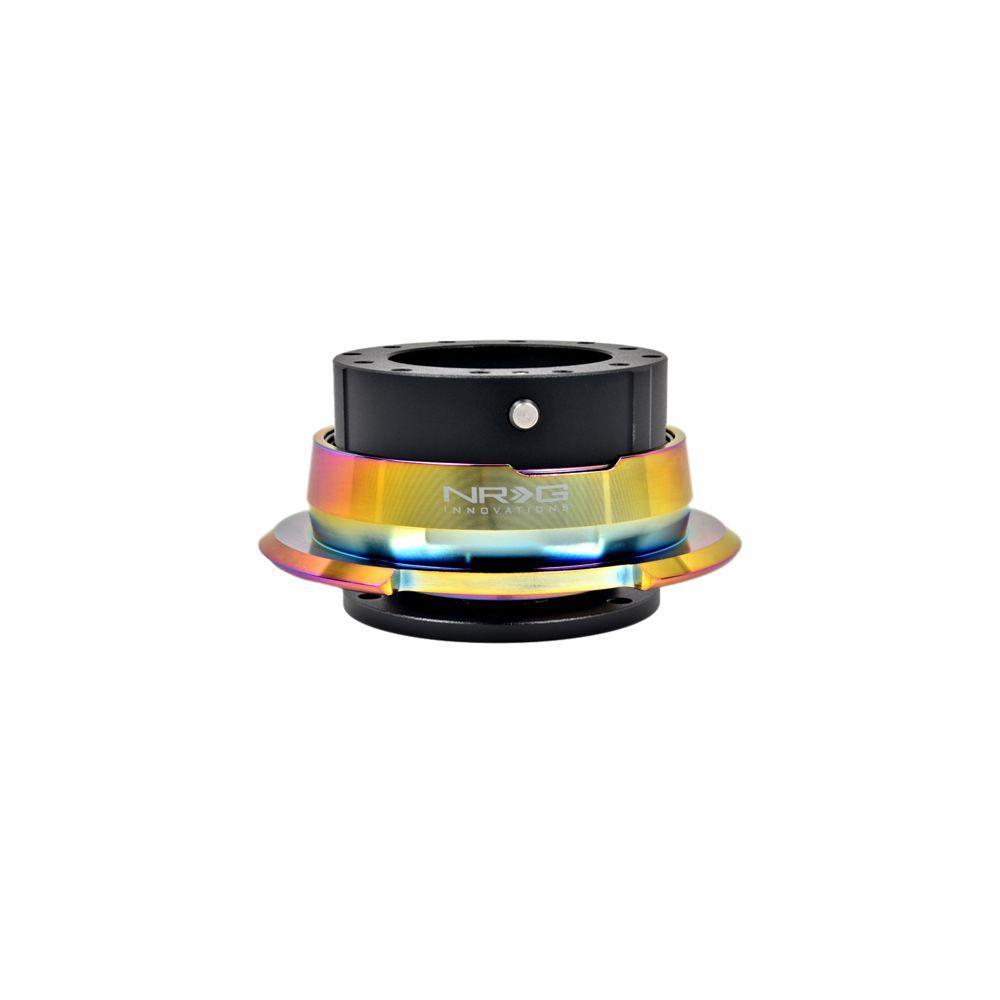 NRG ® - Quick Release Black Body with Diamond Cut Neochrome Ring (SRK-280BK-MC)
