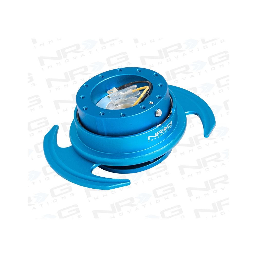 NRG ® - Quick Release Blue Body and Blue Ring with Handles (SRK-650BL)