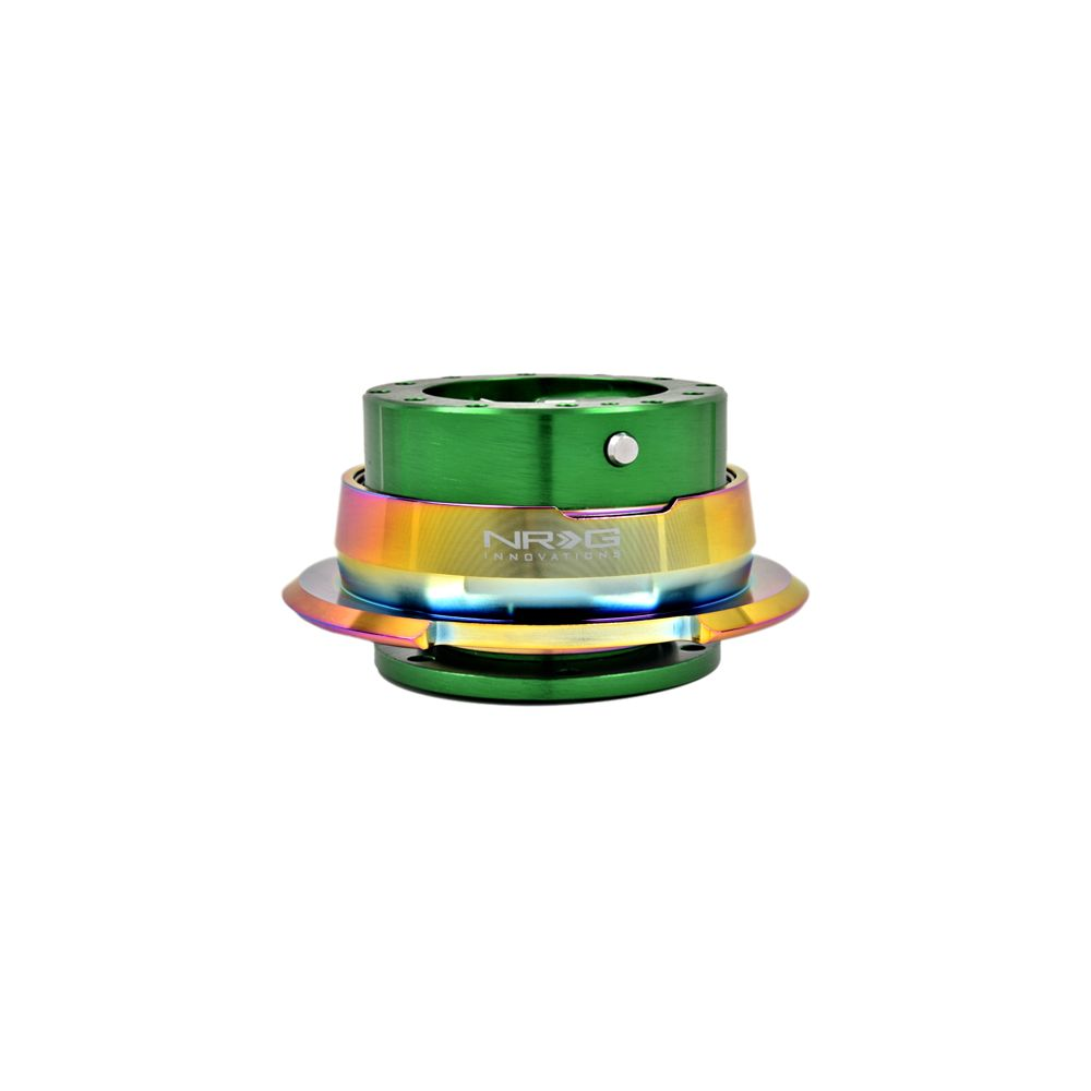 NRG ® - Quick Release Green Body with Diamond Cut Neochrome Ring (SRK-280GN-MC)