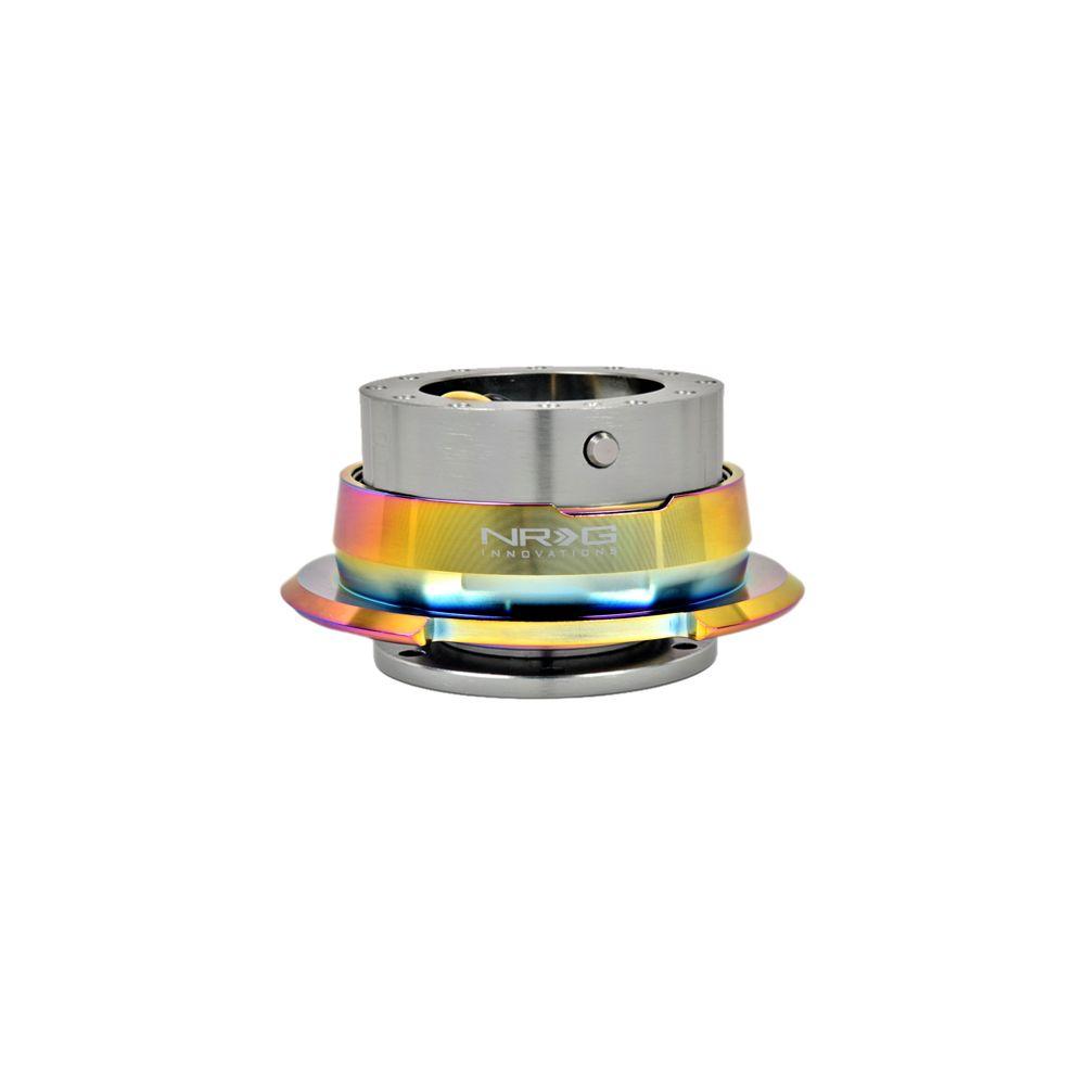 NRG ® - Quick Release Gun Metal Body with Diamond Cut Neochrome Ring (SRK-280GM-MC)