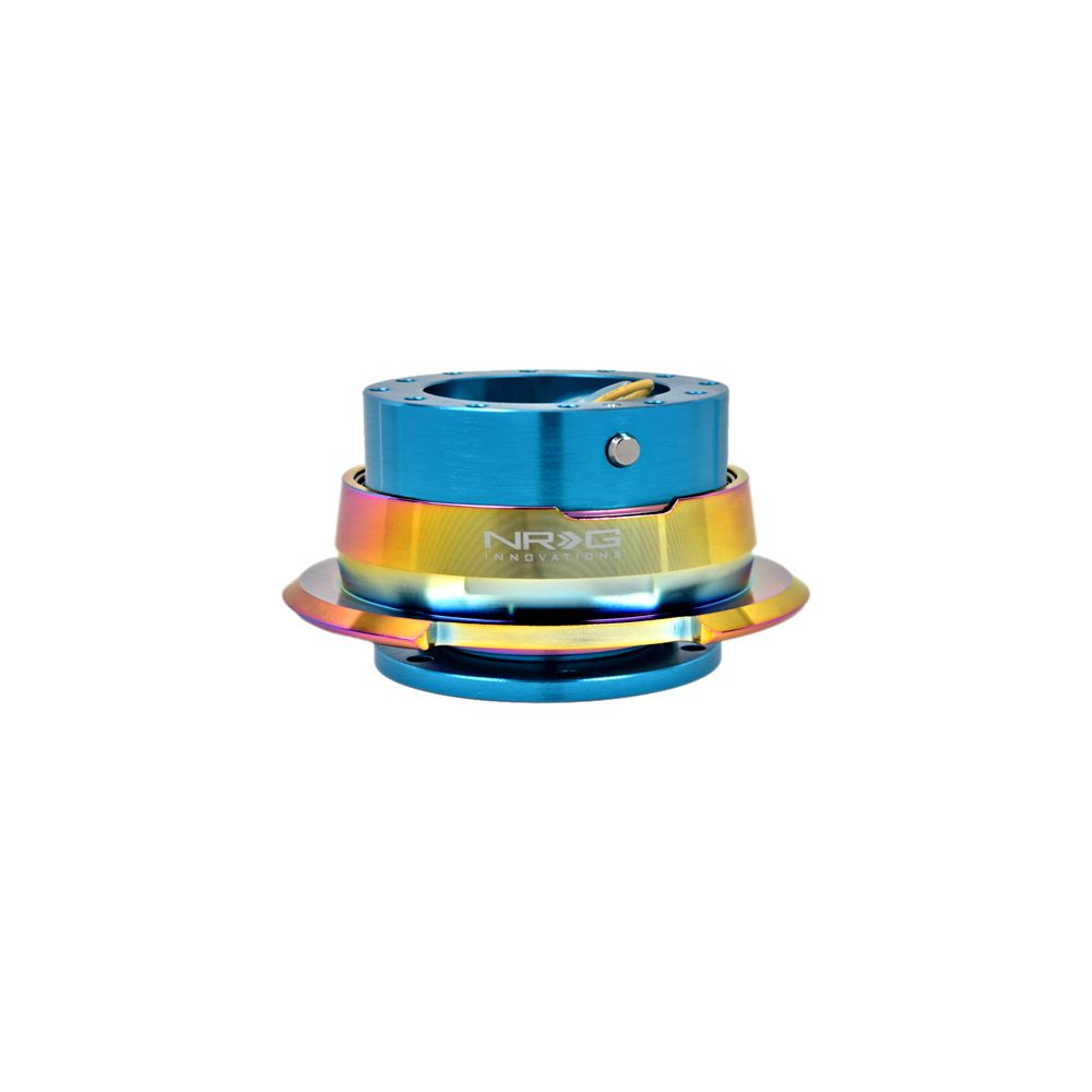 NRG ® - Quick Release New Blue Body with Diamond Cut Neochrome Ring (SRK-280NB-MC)