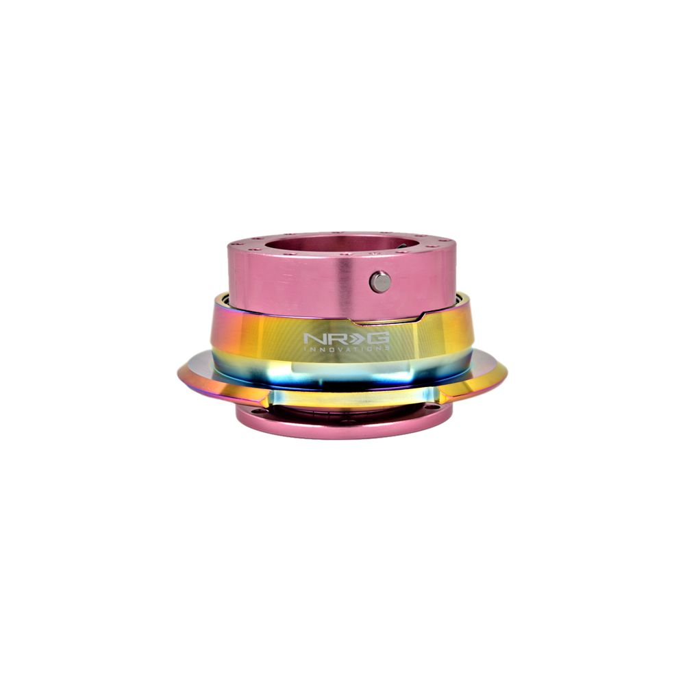NRG ® - Quick Release Pink Body with Diamond Cut Neochrome Ring (SRK-280PK-MC)