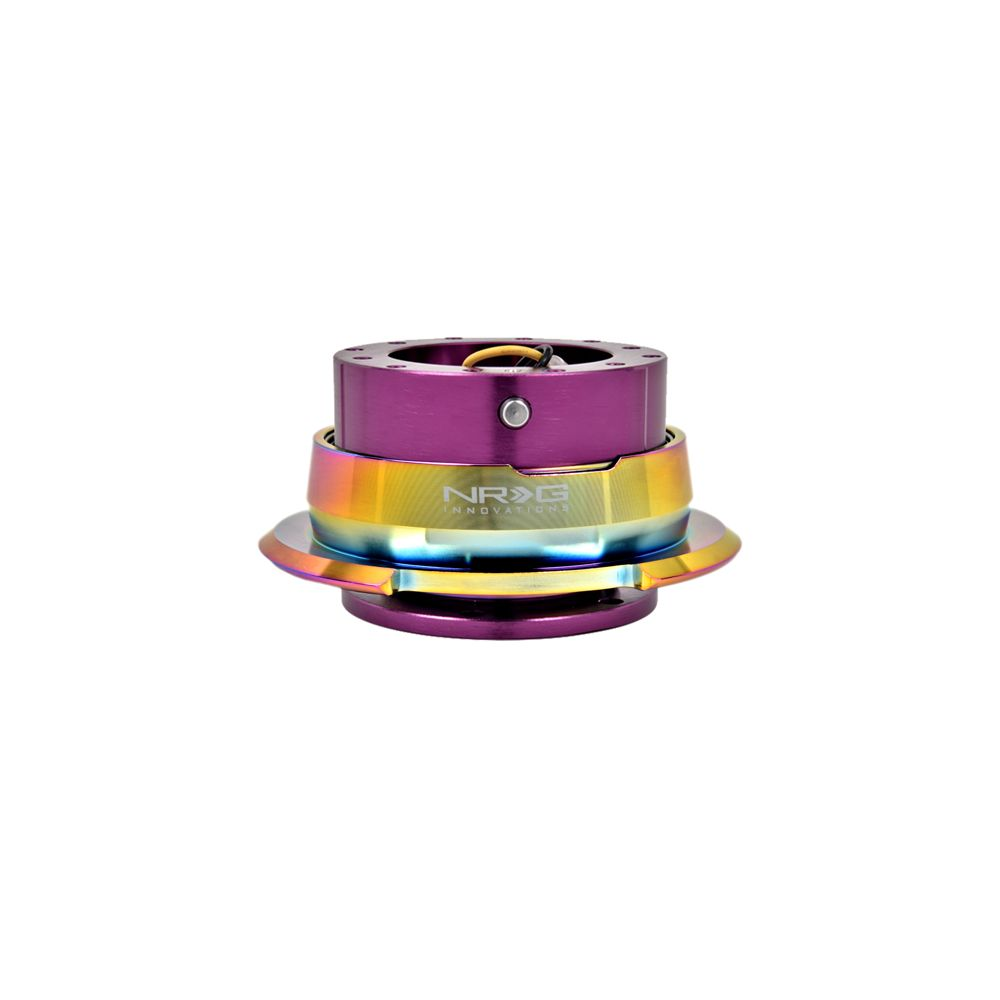NRG ® - Quick Release Purple Body with Diamond Cut Neochrome Ring (SRK-280PP-MC)