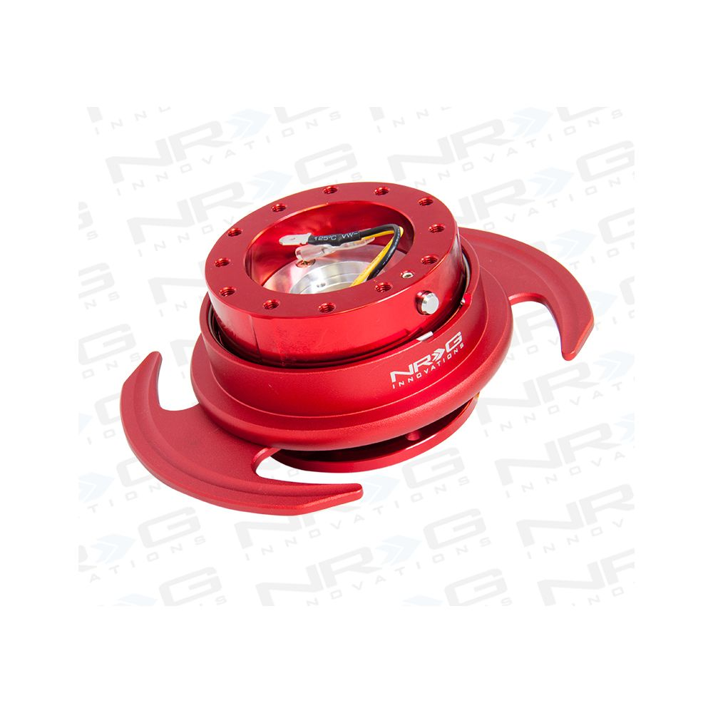 NRG ® - Quick Release Red Body and Red Ring with Handles (SRK-650RD)