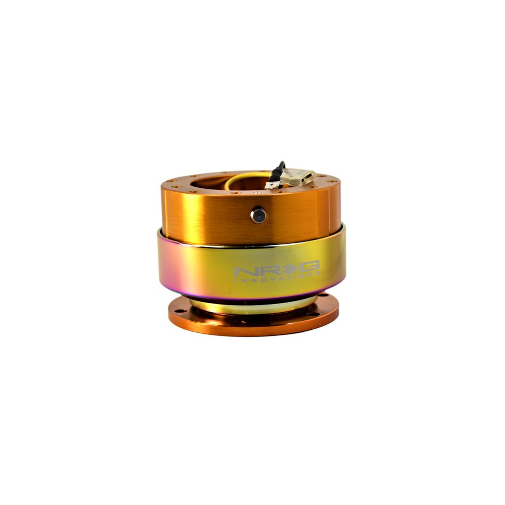 NRG ® - Quick Release Rose Gold Body with Neochrome Ring (SRK-200RG-MC)