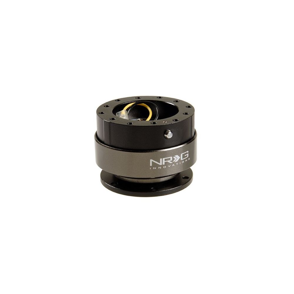 NRG ® - Quick Release Shiny Black Body with Titanium Chrome Ring (SRK-200SBK)