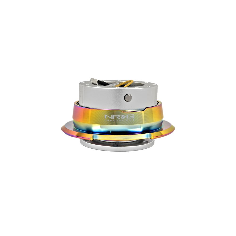 NRG ® - Quick Release Silver Body with Diamond Cut Neochrome Ring (SRK-280SL-MC)