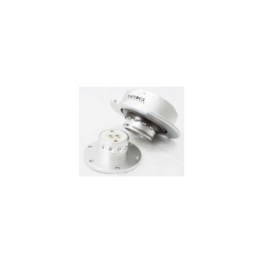 NRG ® - Quick Release Silver Body with Silver Ring (SRK-250SL)