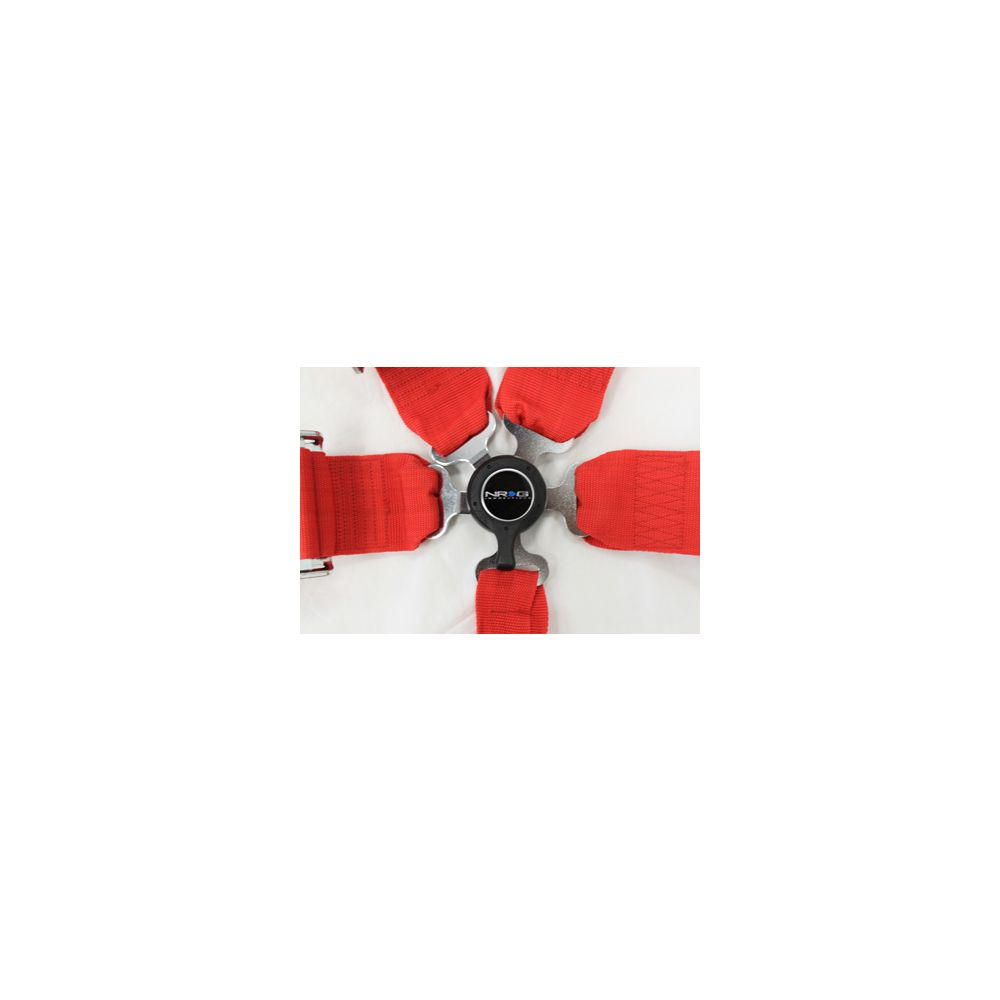 NRG ® - Red 6 Point 3 Inches Cam Lock Seat Belt Harness (SBH-6PCRD)
