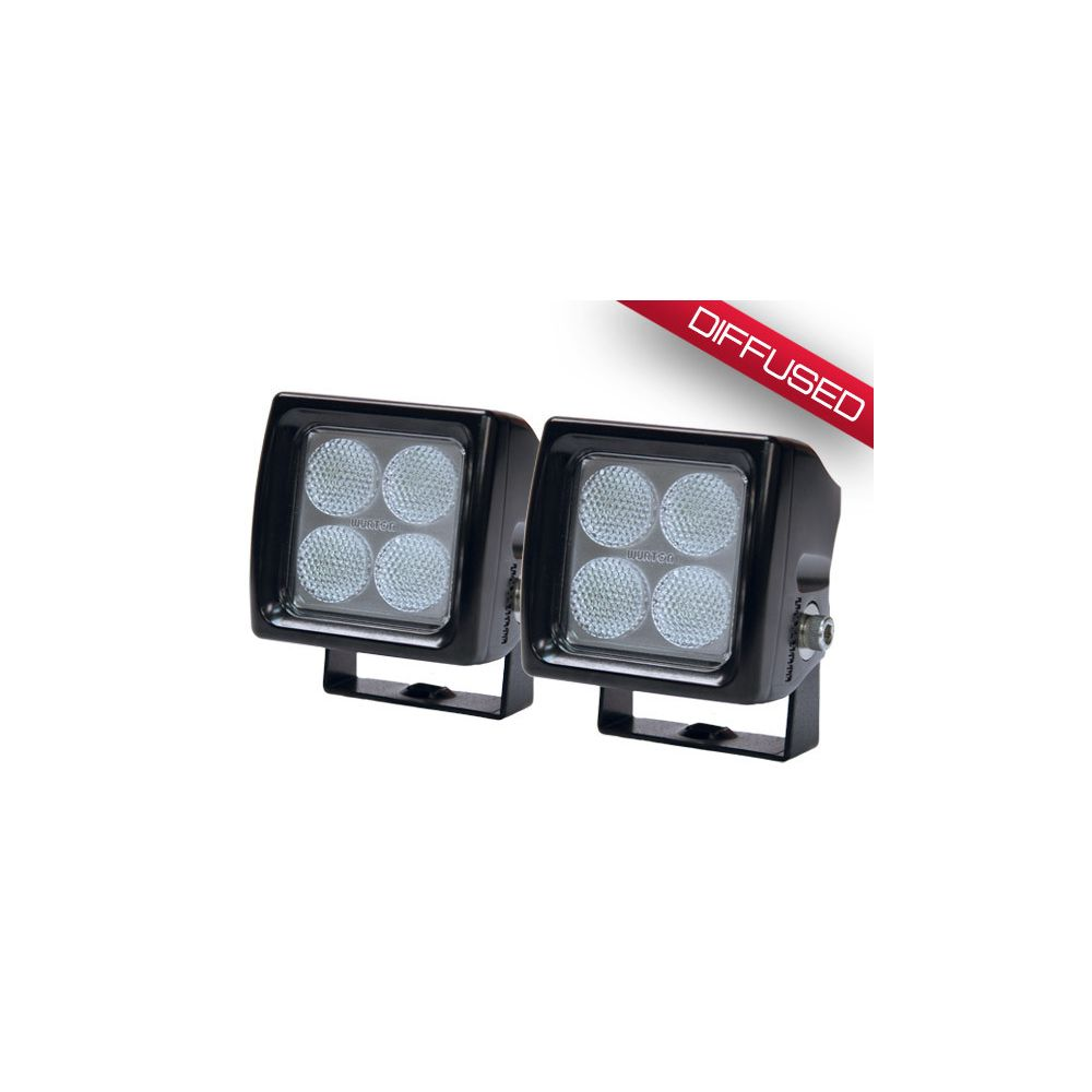 Wurton ® - 3 Inch 5 Watt Dual Scout LED Diffused Beam Cube Light (38043)