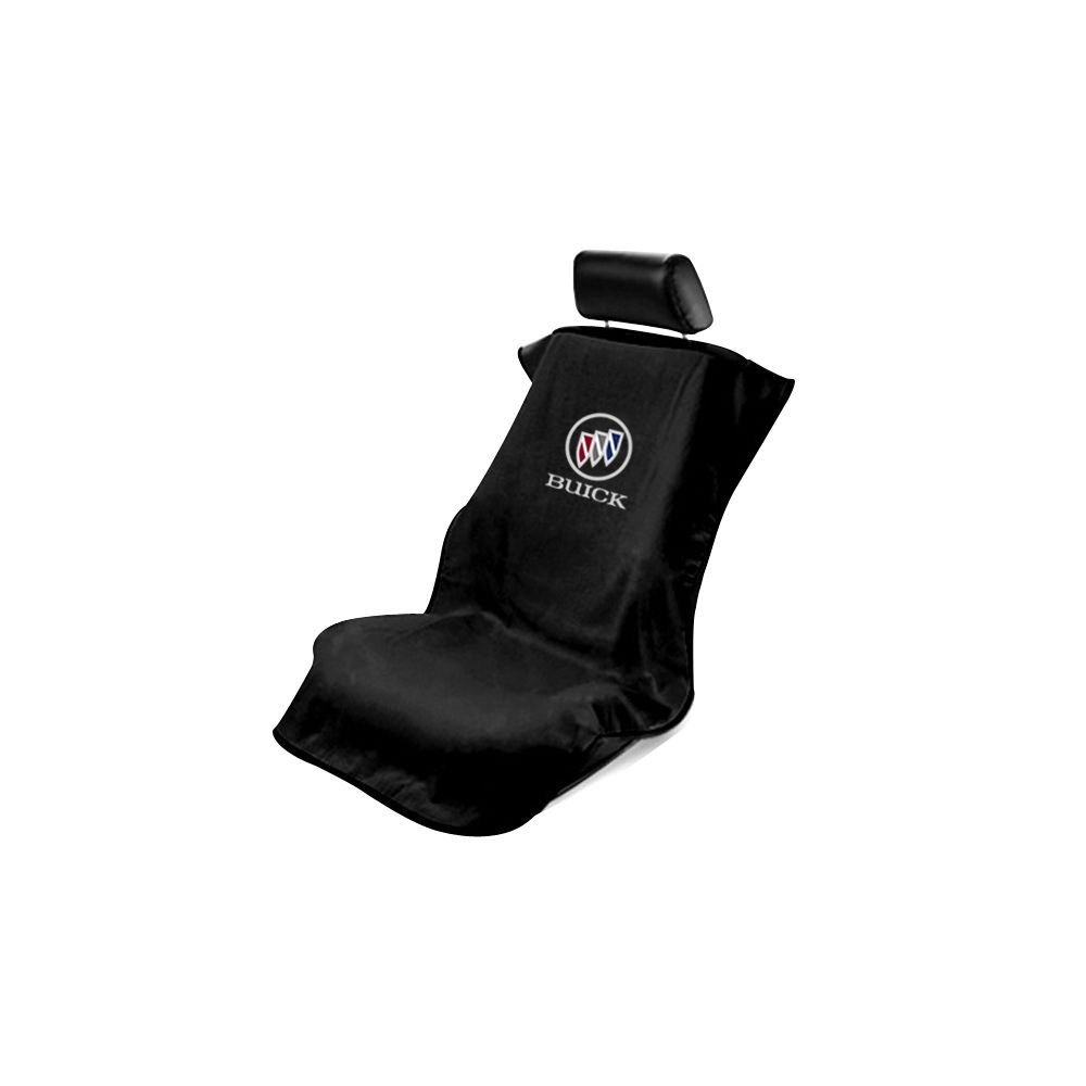 Seat Armour ® - Black Towel Seat Cover with Buick Logo (SA100BCKB)