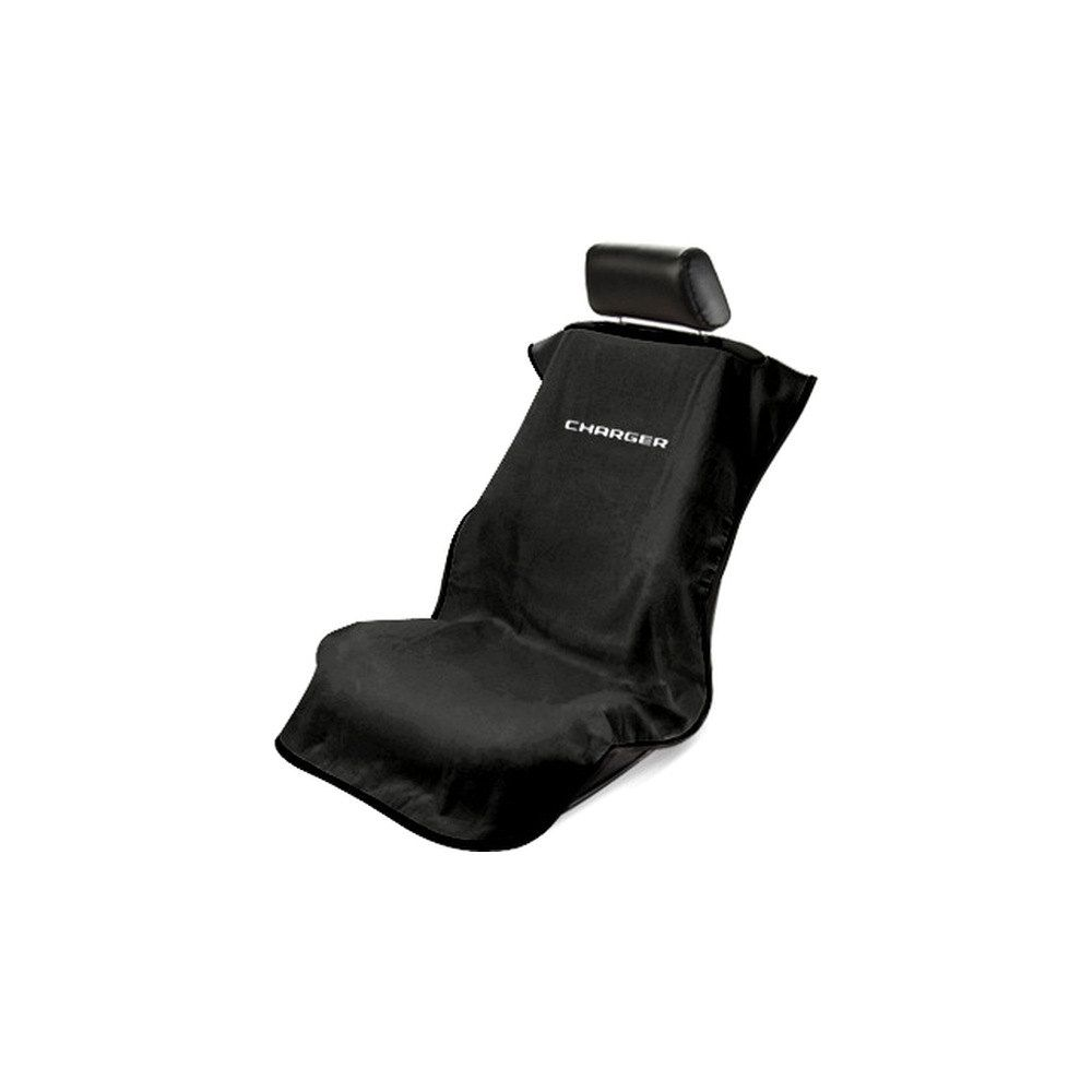 Seat Armour ® - Black Towel Seat Cover with Charger Logo (SA100CHARGB)