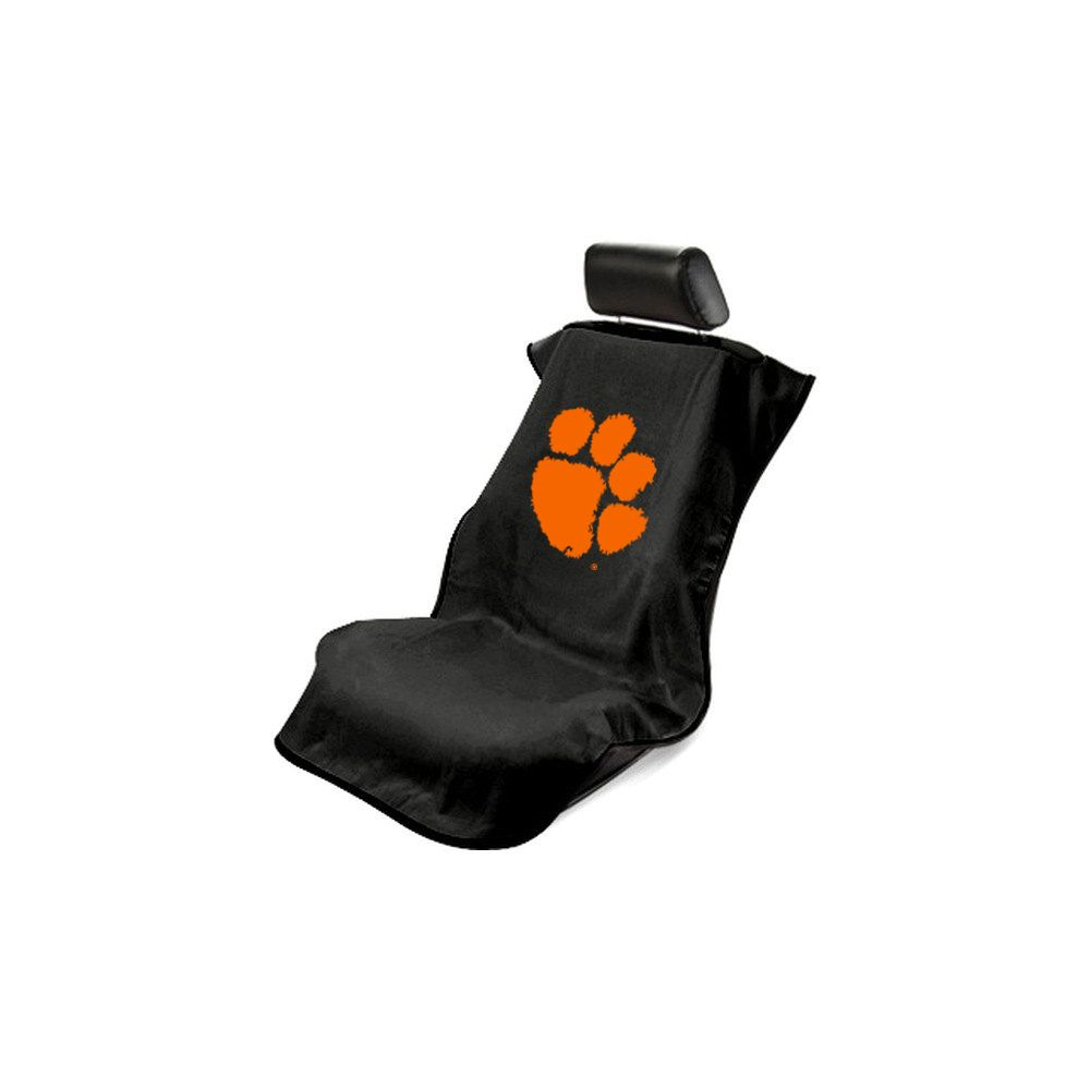Seat Armour ® - Black Towel Seat Cover with Clemson University Tigers Logo (SA100CLEMS)