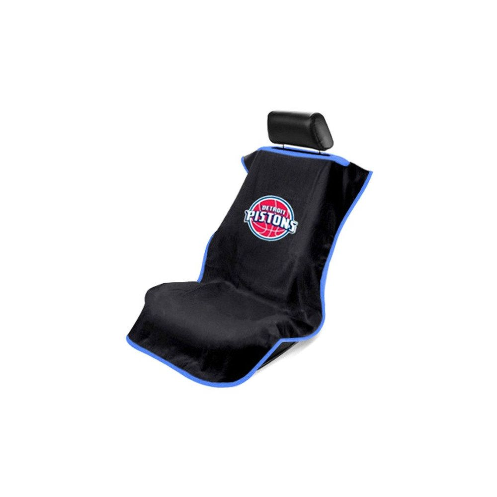 Seat Armour ® - Black Towel Seat Cover with NBA Detroit Pistons Logo (SA100PIST-B)
