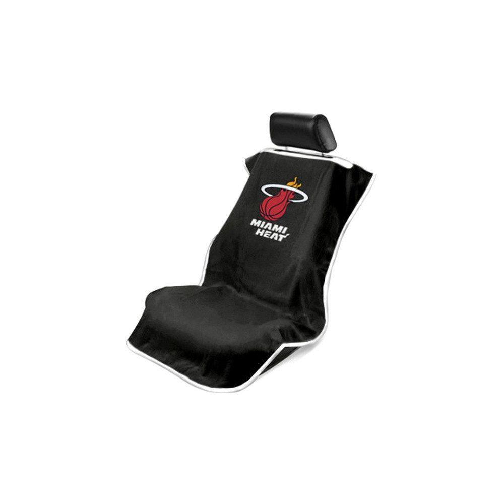 Seat Armour ® - Black Towel Seat Cover with NBA Miami HEAT Logo (SA100HEAT-B)