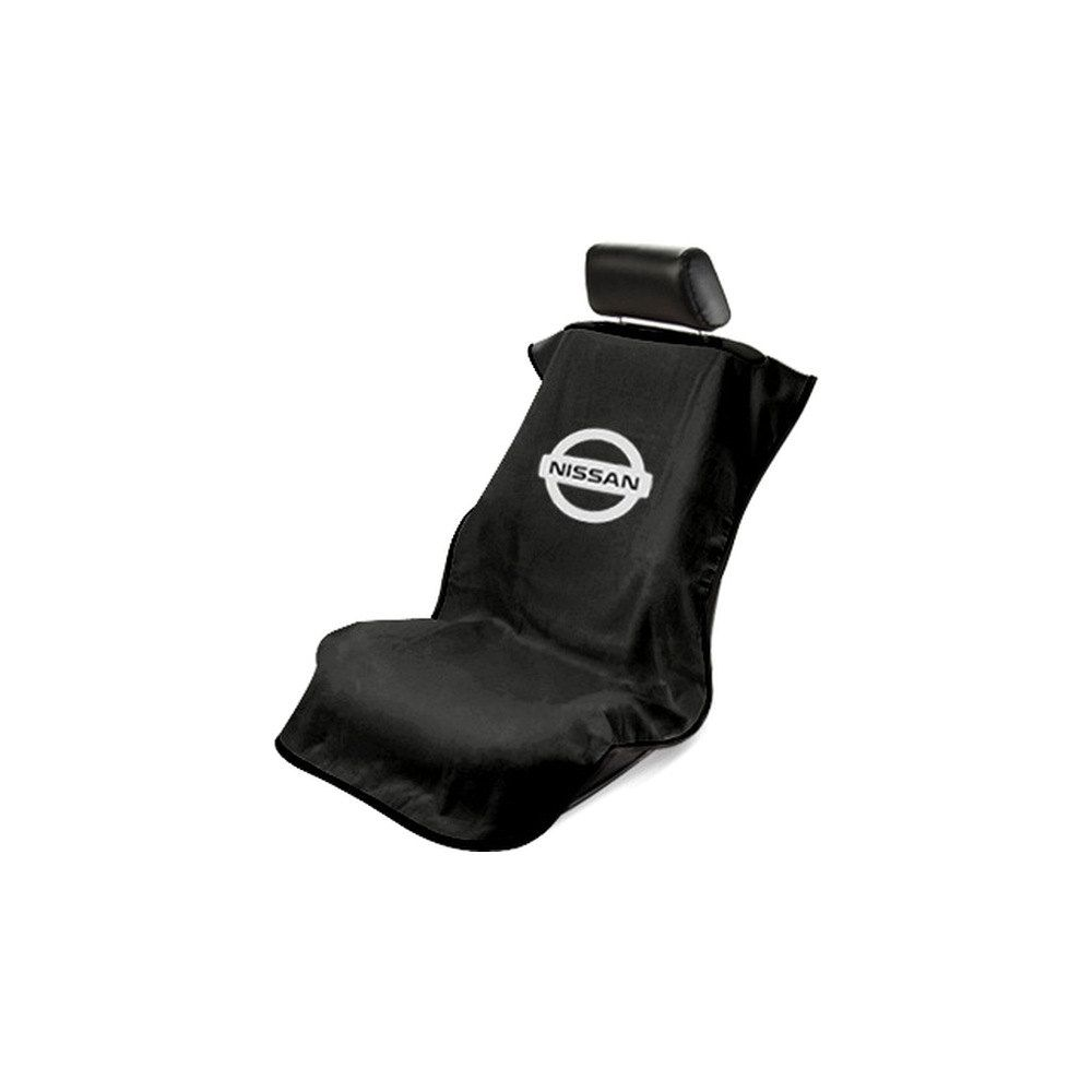 Seat Armour ® - Black Towel Seat Cover with Nissan Logo (SA100NISSB)