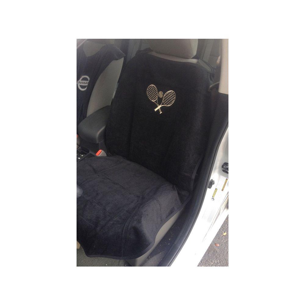 Seat Armour ® - Black Towel Seat Cover with Tennis Logo (SA100TRCQBE)