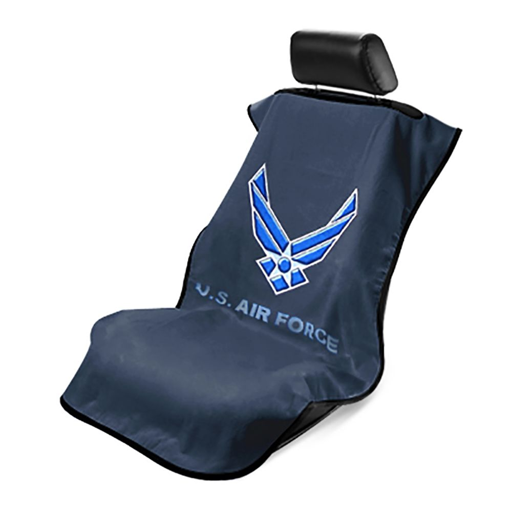 Seat Armour ® - Black Towel Seat Cover with US Air Force Logo (SA200USAIRF)