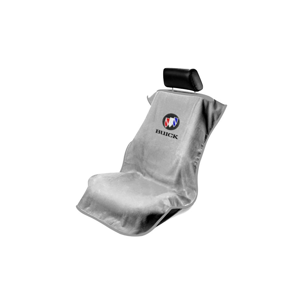 Seat Armour ® - Grey Towel Seat Cover with Buick Logo (SA100BCKG)