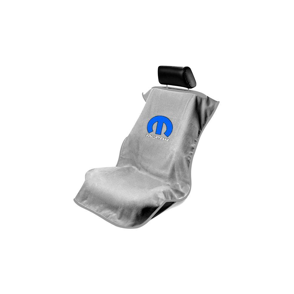 Seat Armour ® - Grey Towel Seat Cover with Mopar Logo (SA100MOPG)