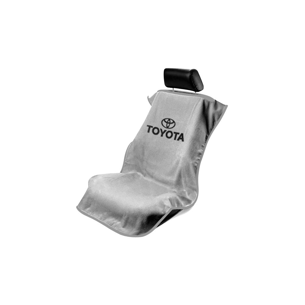 Seat Armour ® - Grey Towel Seat Cover with Toyota Logo (SA100TOYG)