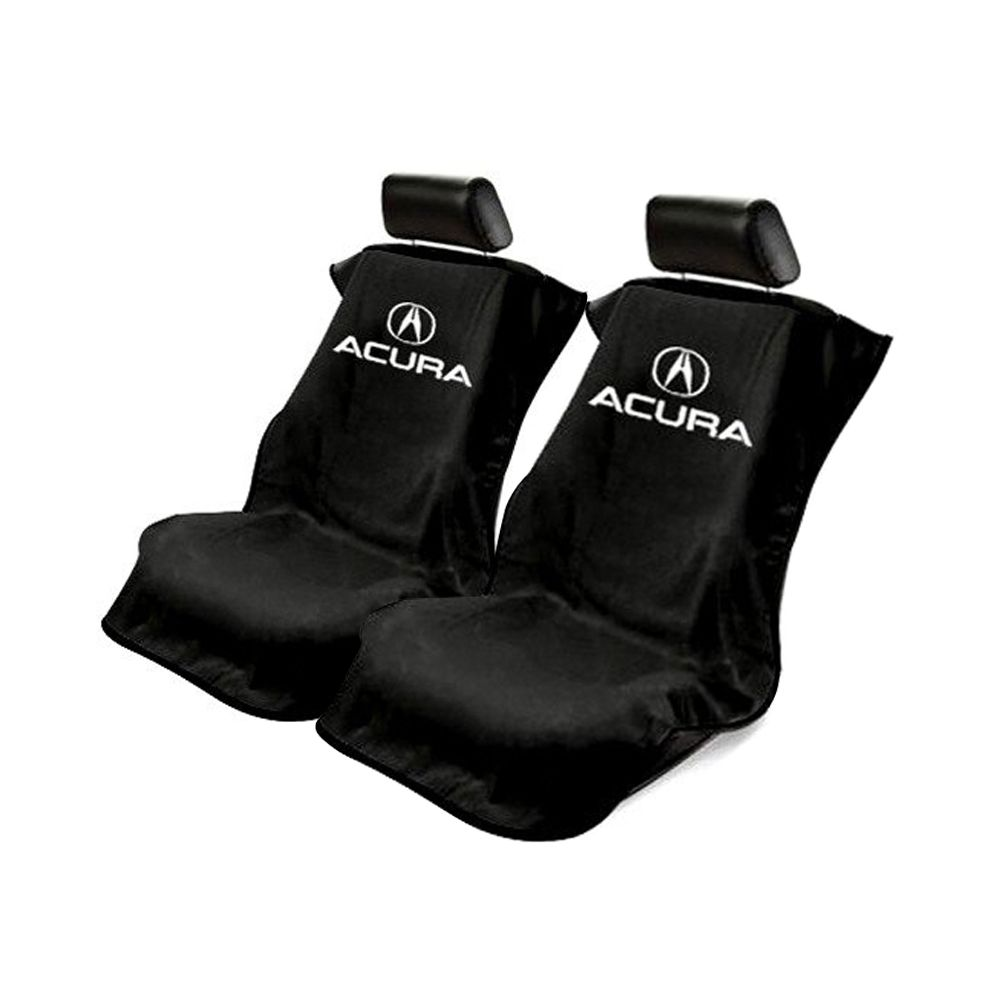 Seat Armour ® - Pair of Black Towel Seat Covers with Acura Logo (SA100ACUB)