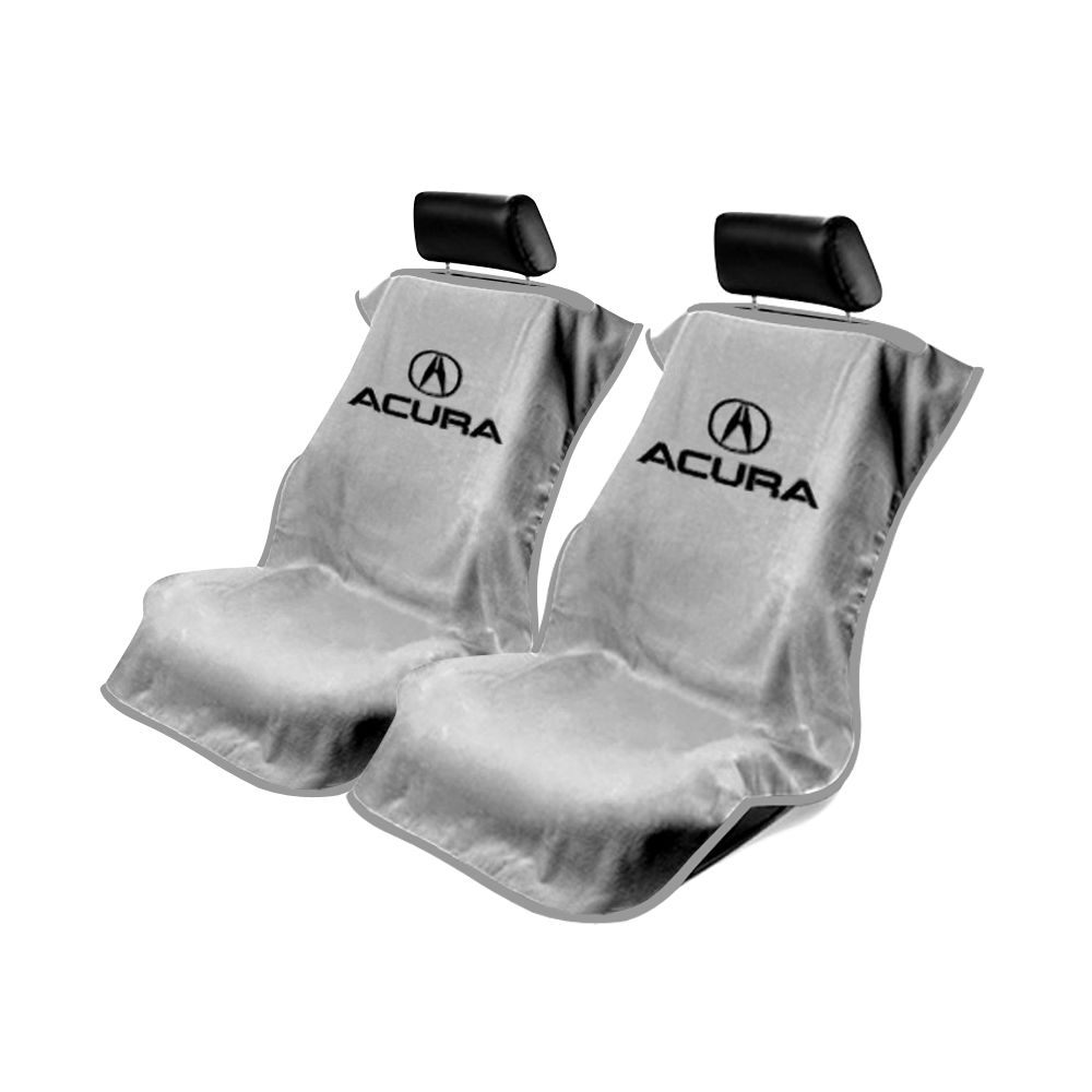 Seat Armour ® - Pair of Grey Towel Seat Covers with Acura Logo (SA100ACUG)
