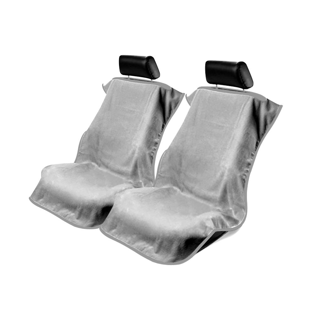 Seat Armour ® - Pair of Grey Towel Seat Covers without Logo (CST-GRE)