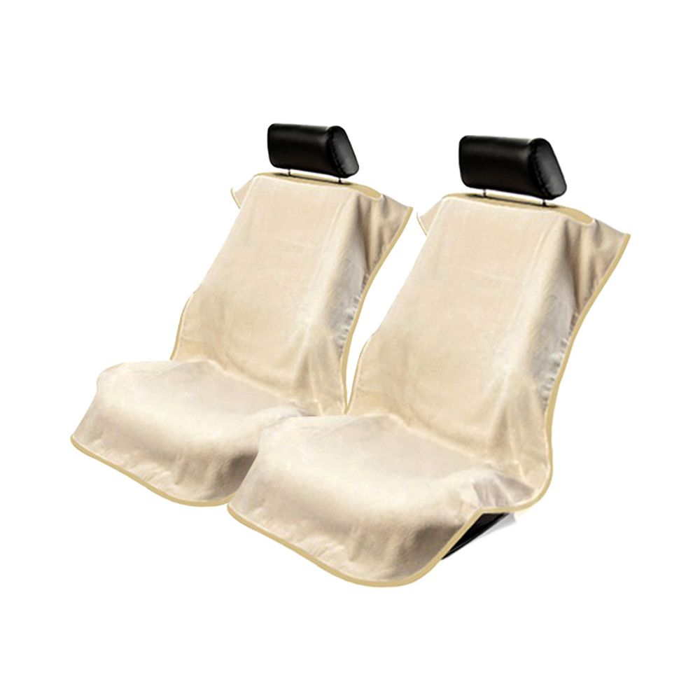 Seat Armour ® - Pair of Tan Towel Seat Covers without Logo (CST-TAN)