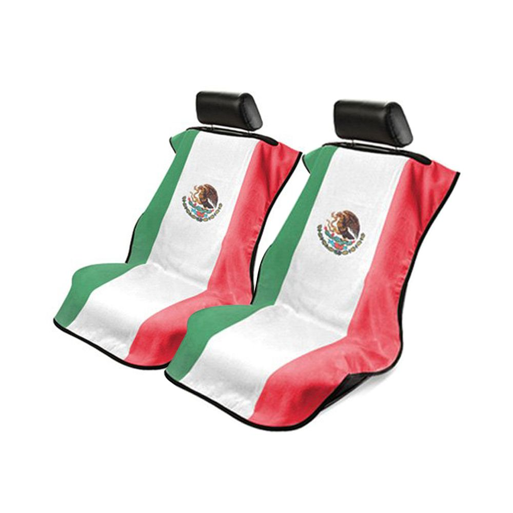Seat Armour ® - Pair of Towel Seat Covers with Mexican Flag (SA100MEXFL)