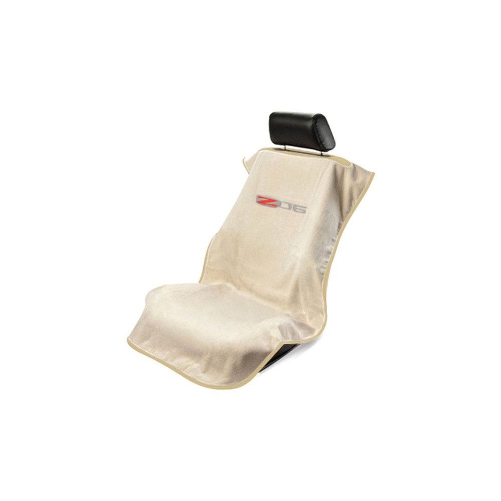 Seat Armour ® - Tan Towel Seat Cover with Corvette Z06 Logo (SA100COR6ZT)