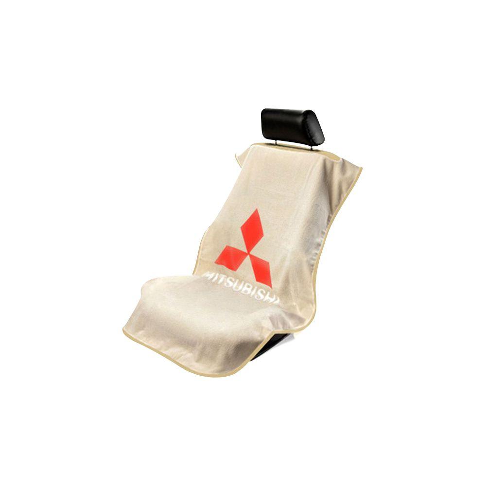 Seat Armour ® - Tan Towel Seat Cover with Mitsubishi Logo (SA100MITT)