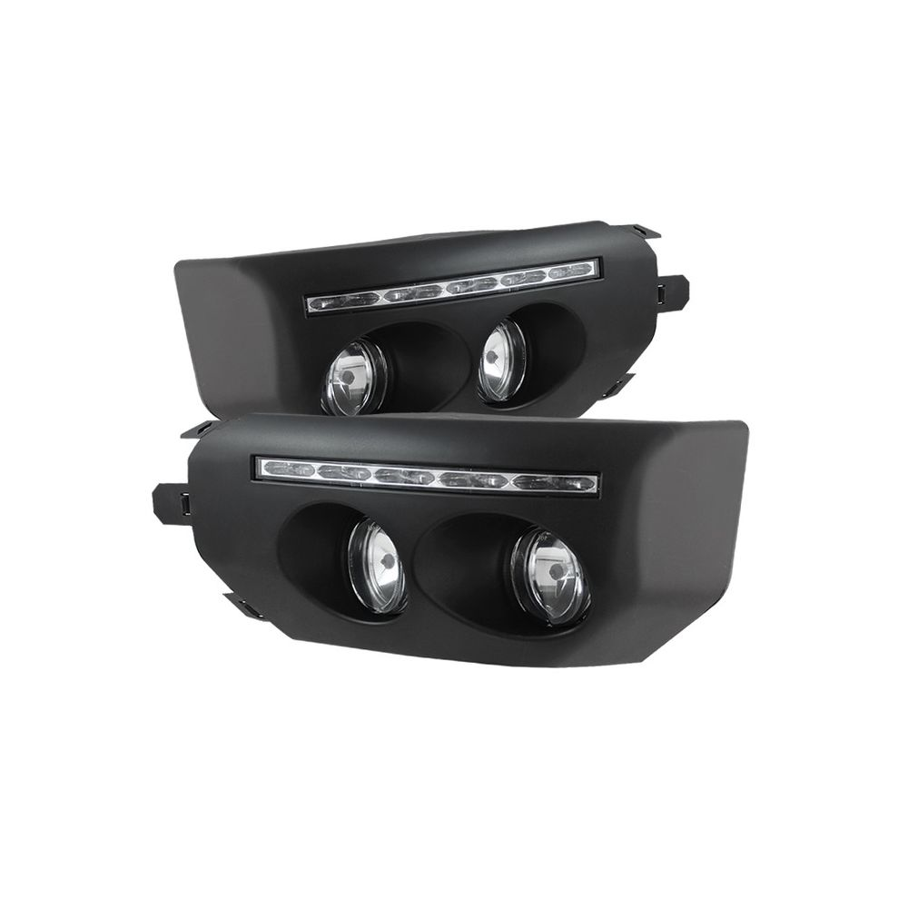 Spyder Auto ® - Black Fog With LED Daytime Running Fog Lights (5075161)