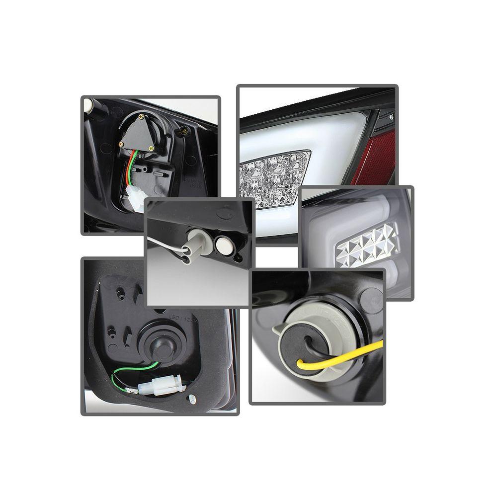 Spyder Auto ® - Black Light Bar LED Tail Lights (5076595)
