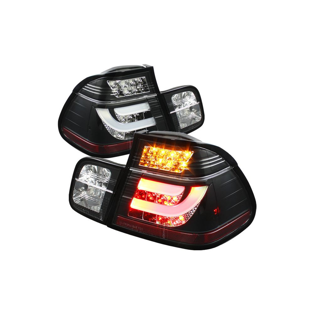 Spyder Auto ® - Black Light Bar Style LED Tail Lights (5037695)