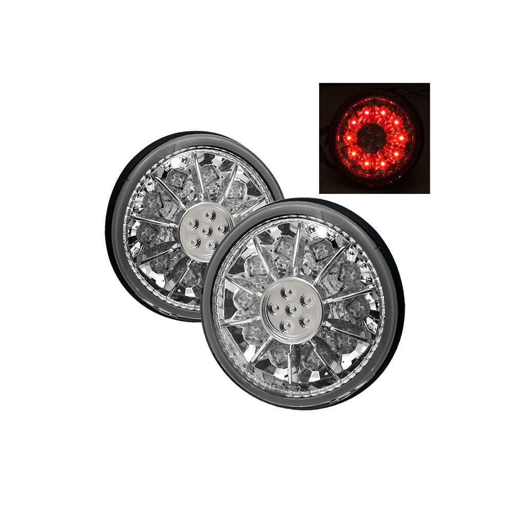 Spyder Auto ® - Chrome LED Trunk Tail Lights (5005854)