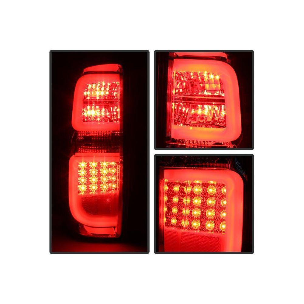 Spyder Auto ® - Chrome Light Bar LED Tail Lights (5080042)