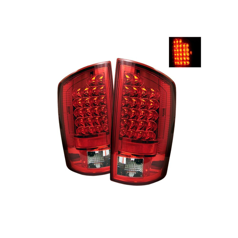 Spyder Auto ® - Red Clear LED Tail Lights (5002631)