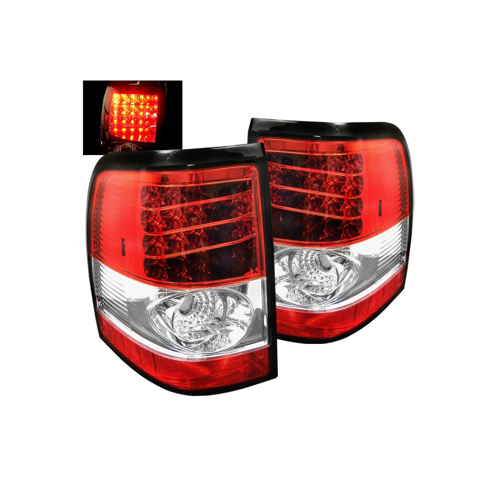 Spyder Auto ® - Red Clear LED Tail Lights (5002976)