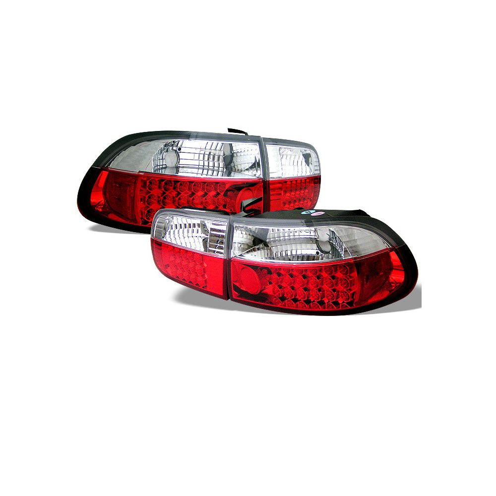 Spyder Auto ® - Red Clear LED Tail Lights (5004642)