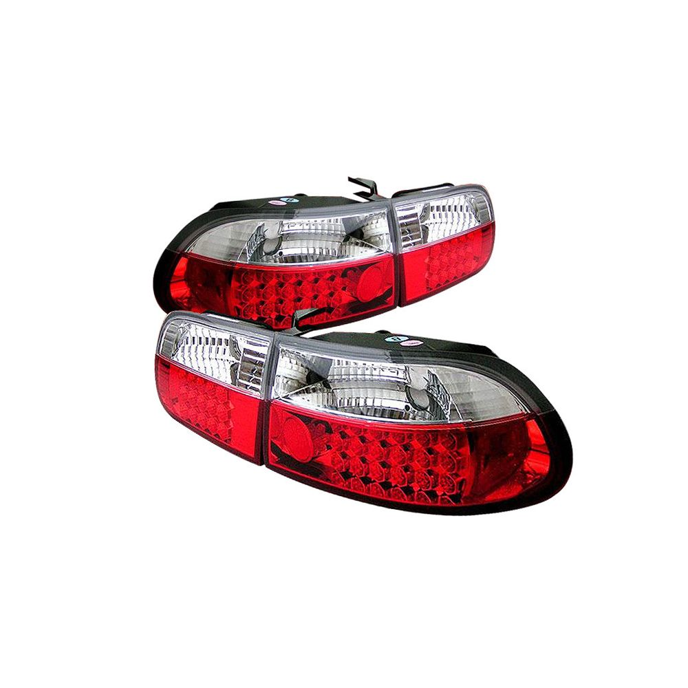 Spyder Auto ® - Red Clear LED Tail Lights (5004741)