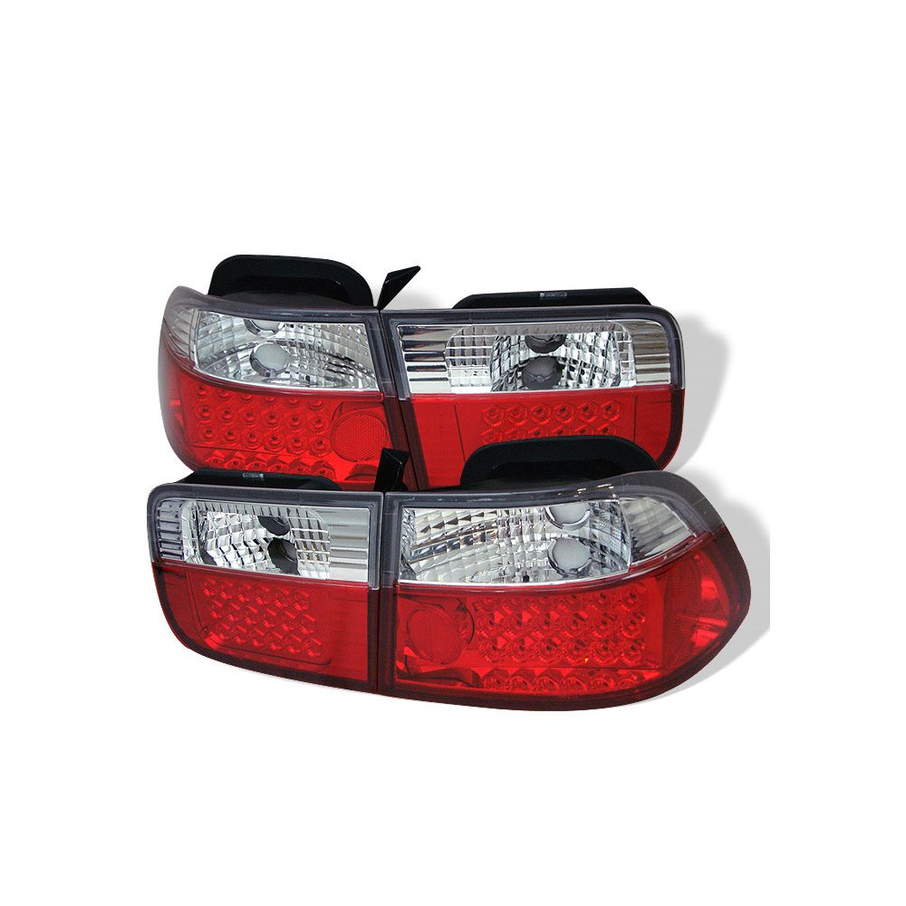 Spyder Auto ® - Red Clear LED Tail Lights (5004857)