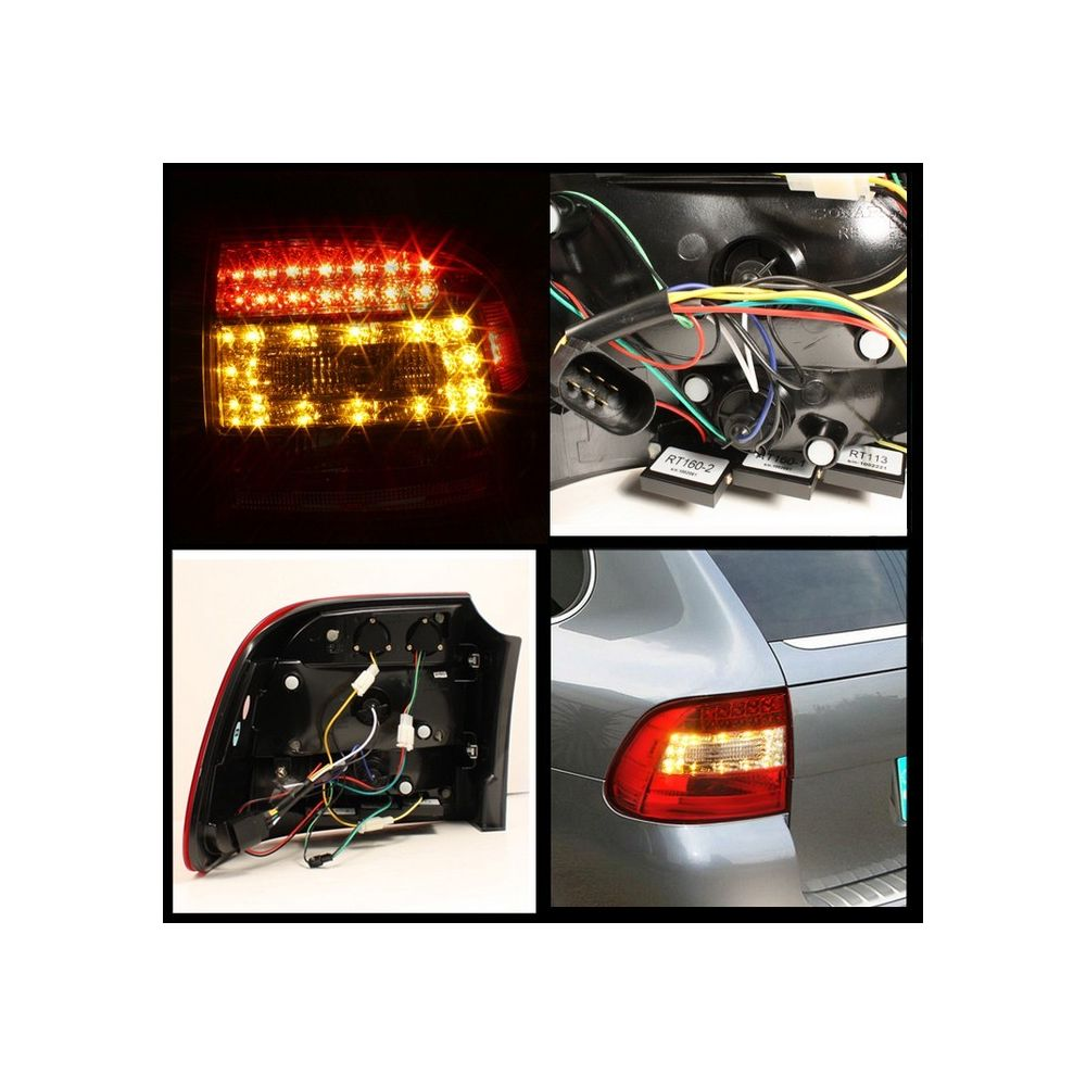 Spyder Auto ® - Red Clear LED Tail Lights (5007087)
